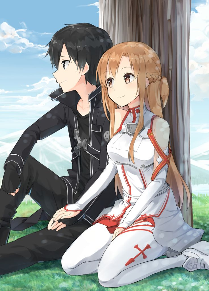 Sword Art Online, Kirito + Asuna, by max melon teitoku