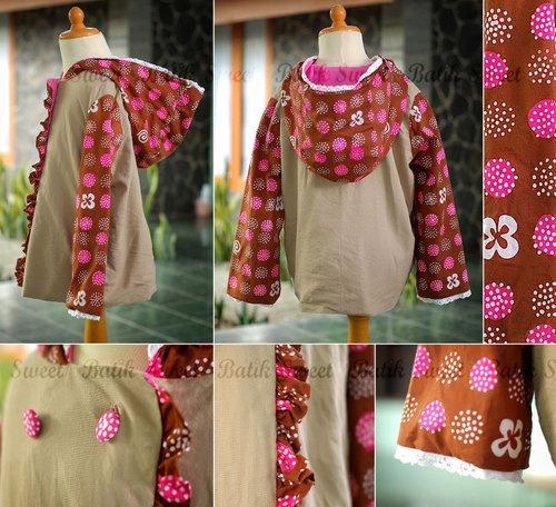 Girl Hoodie Jacket by Sweet Batik Indonesia.