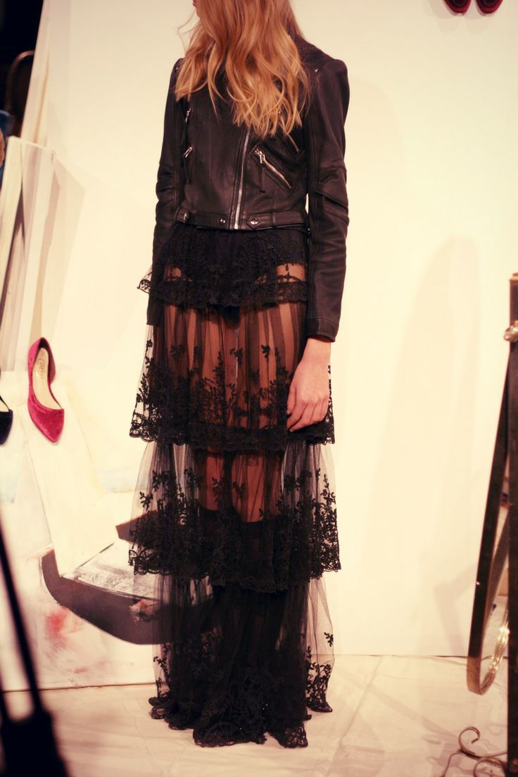 can DIY with a short black skirt underneath and nice lace :)