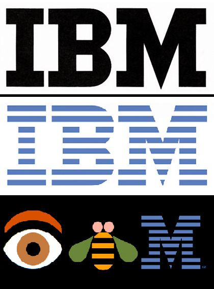 Paul Rand - evolution of the IBM logo