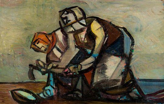 Vincent Hložník (1919 – 1997) On the Field, 1940