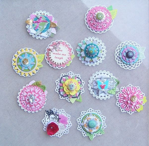 Embellished Doily Swap by gollyg @Kari Jones alissa Peas in a Bucket