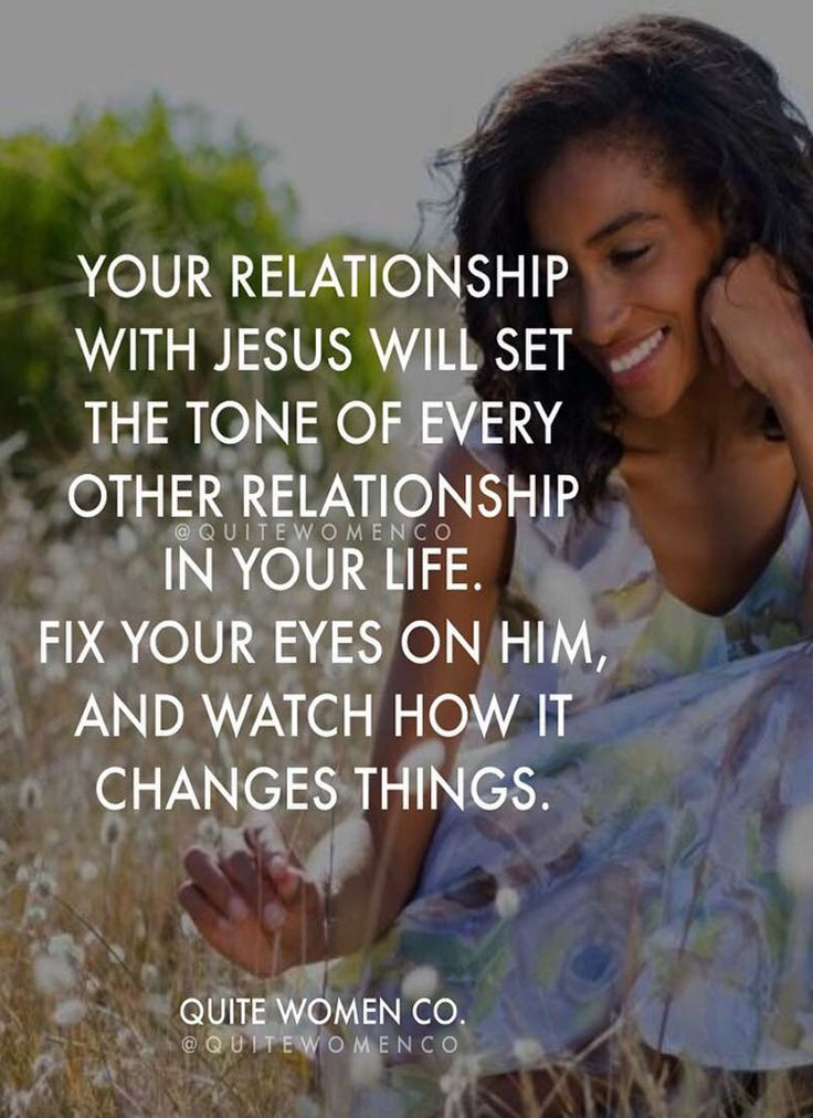 Focusing on my relationship with Jesus Christ...