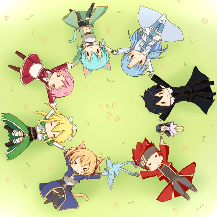 Sword Art Online chibis!!! I love it!