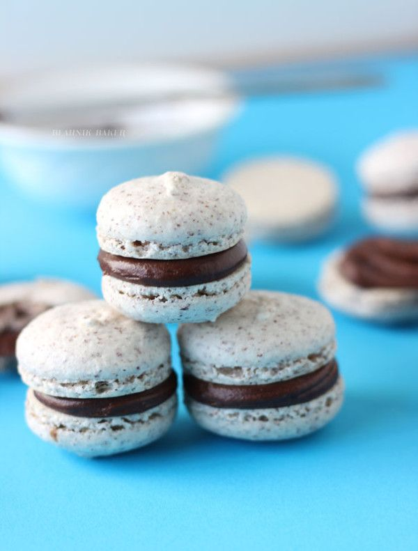 Hazelnut Macarons with Chocolate Chambord Ganache