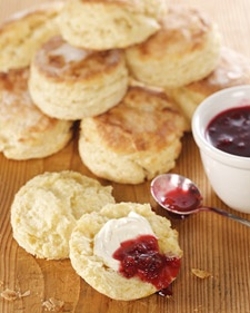 Scones with cream and strawberry jam -- need I say more?