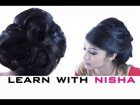 PRESS PLAY!!! NishaDavdra teaches this gorgeous hairstyle STEP BY STEP  with clear instruction. Big Hair Style Tutorial - YouTube  #indian #bighair #big #hair #updo #wedding #curls #side #sweep #ideas #hairstyle #tutorial #learn #howto #wow #bouffant #1950s #teach #stepbystep #nisha #davdra
