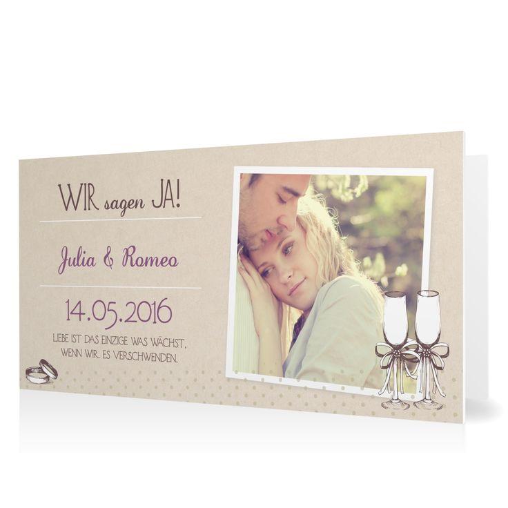 Hochzeitseinladung Ringlein Ringlein in Lavendel - Klappkarte flach lang #Hochzeit #Hochzeitskarten #Einladung #elegant #Foto #kreativ https://www.goldbek.de/hochzeit/hochzeitskarten/einladung/hochzeitseinladung-ringlein-ringlein?color=lavendel&design=3ae51&utm_campaign=autoproducts