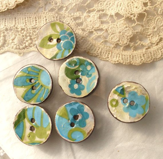 Handmade Ceramic Buttons.