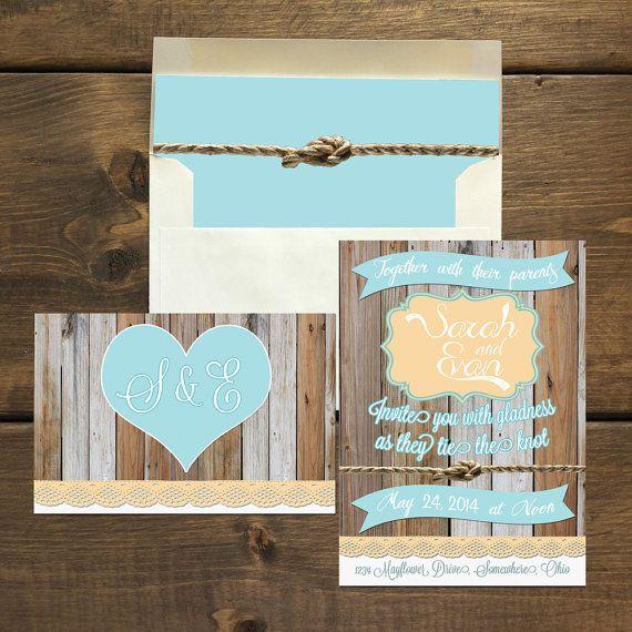 19 best DIY Beach Wedding Invitations images – Rustic Beach Wedding Invitations