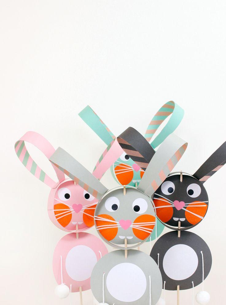 We Like Mondays // WLKMNDYS // Happy Monday DIY // Hase am Stiel #ostern #osterhase #easter #bunny #rabbit #diy #papercrafts #kidscrafts