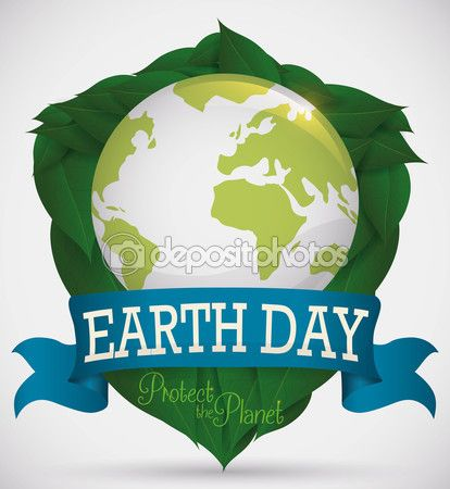 Shield formed for Leaves with World for Earth Day