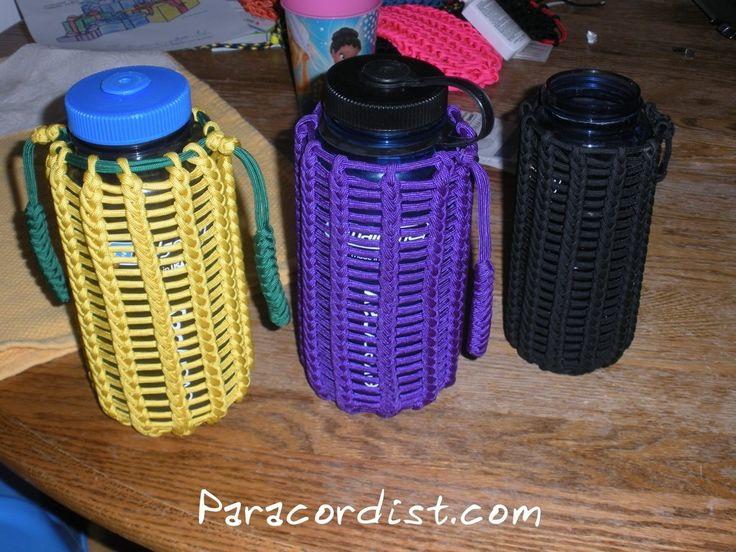 Nalgene bottle koozie 550 cord pinterest cords for Paracord koozie how to make