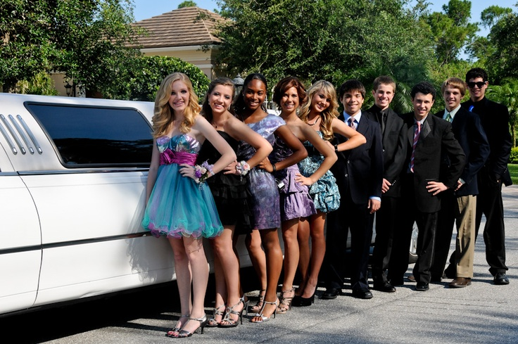 Hairstyles For Eighth Grade Dance : Th grade dance i like the shoes and dresses limo