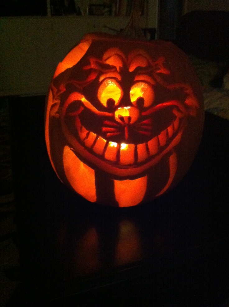 25 best ideas about cheshire cat pumpkin on pinterest for Cat carved into pumpkin