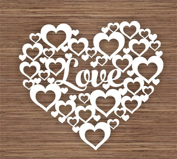 Love PDF SVG Instant Download Digital Papercut by ArtyCuts on Etsy