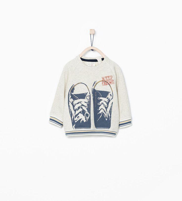 Imagem 1 de SWEATSHIRT ESTAMPADA COM SAPATILHAS da Zara