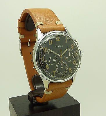 Vintage Metal / S.Steel Military Breitling Chronograph Watch Ref 734  Venus 178