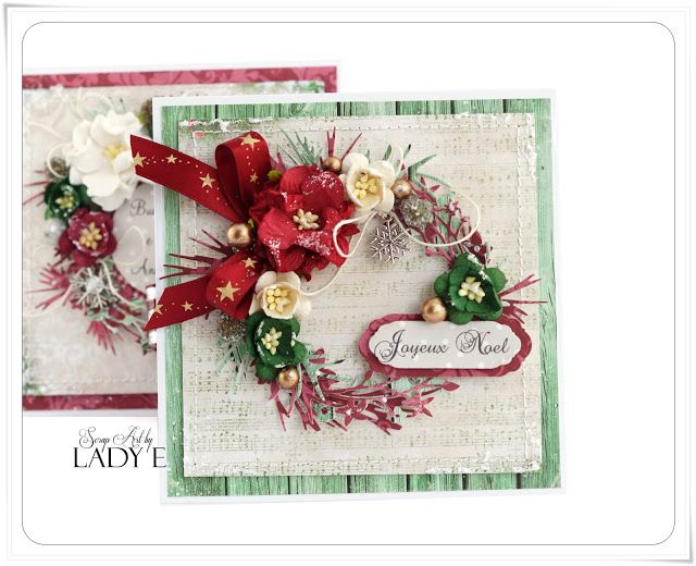 Wild Orchid Crafts: 2 Christmas Cards with Wreaths