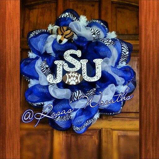 Jackson State university #Go Tigers follow me on Facebook Rosa's Wreaths