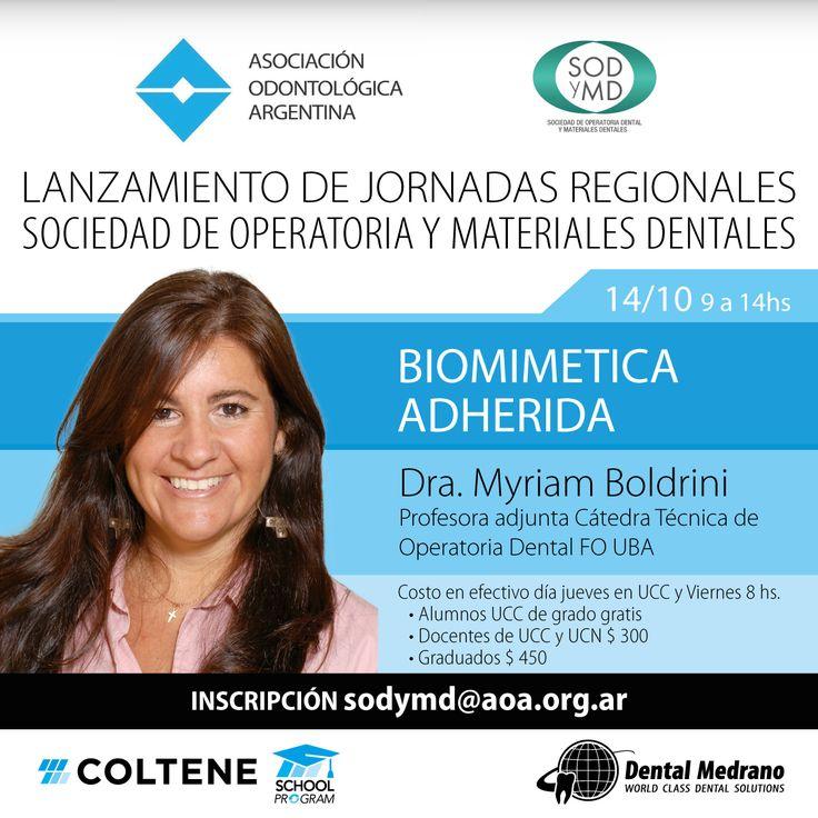 14 de Octubre! Universidad Católica de Córdoba Biomimetica Adherida Dra. Myriam Boldrini