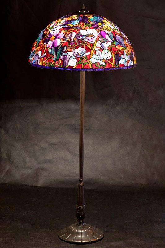 tiffany floor lamp magnolia big floor stained glass wpworkshop