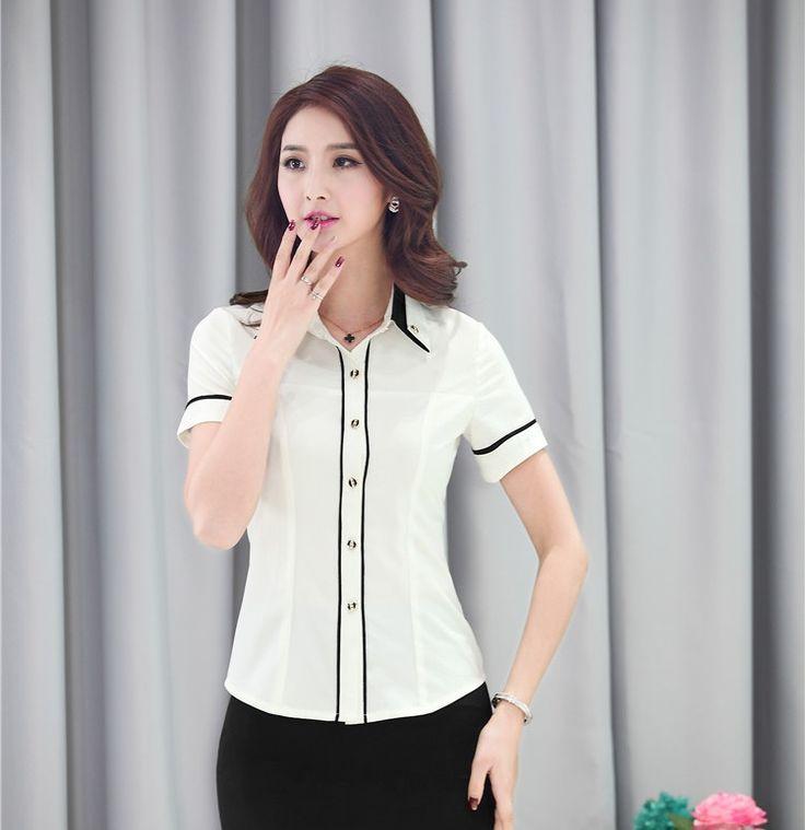 De-moda-del-verano-camisas-mujer-Blusas-de-manga-corta-para-Formal-uniforme-damas-de-oficina.jpg (750×774)