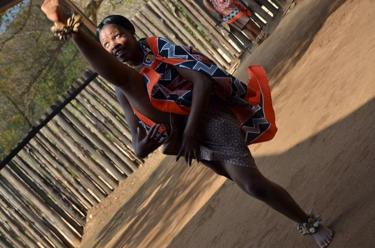Swazi Maiden Dance at Mantenga Village. By Rosemary Hall