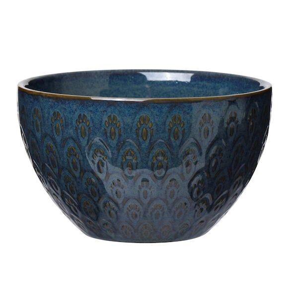 Skål i steintøy. Mål: 12,5x7 cm. Finnes i flere farger. Tallerken, asjett og kopp i samme farger kan også kjøpes. Tåler ...