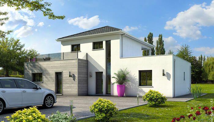 Architecture sobre et élégante pour cette maison contemporaine, qui