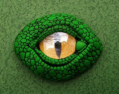Clever dragon/reptile eye