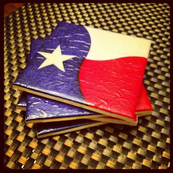 Texas Flag Coasters by TexazDesigns on Etsy, $19.95