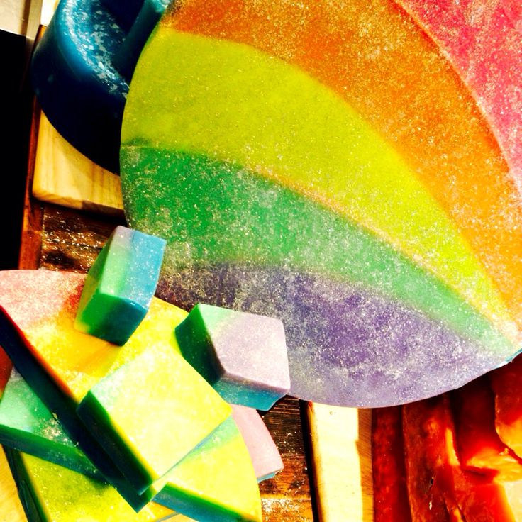 Somewhere Over The Rainbow soap
