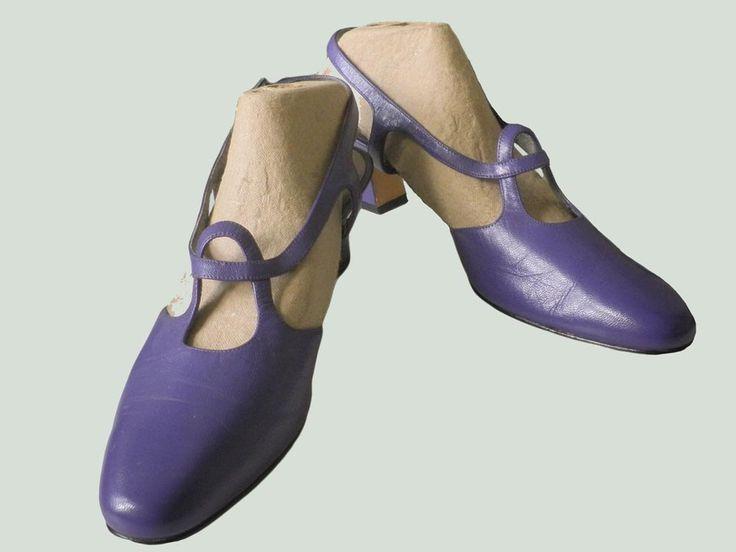Opvallende Paarse Leren Slingback Dames Pump Schoenen Sandalen Vintage Fashion 1980 Ros Hommerson door TresbeLLL op Etsy