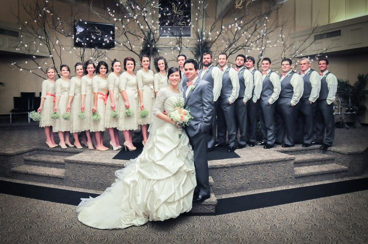 Stunning Modest Wedding party. Bridesmaid dresses all completely modest!