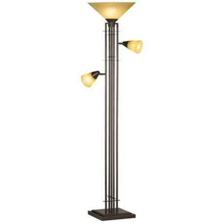 Metro collection 3 in 1tm torchiere floor lamp floor for Roosevelt 1 light floor lamp