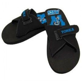 Sport Slide Flip Flop Sandal w/ Adjustable Suede Straps