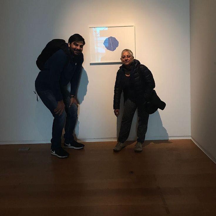 Anita Dube and Waqas Khan finally meet ! Missing you both but what a wonderful occasion for you both to get acquainted. #waqaskhan #manchesterartgallery #museum #art #artofpakistan #pakistaniart #curator #kochibiennale #womenpower #lakeeren