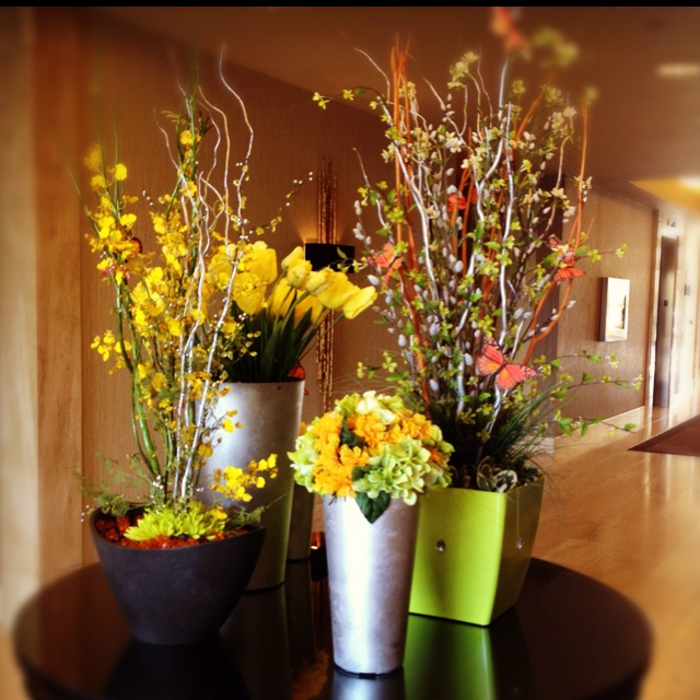 Spring flowers decor
