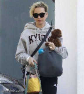 海外セレブスナップ | Celebrity Style: 【ケイティ・ペリー】日本で買ったご当地パーカーを着て愛犬とお出かけ!