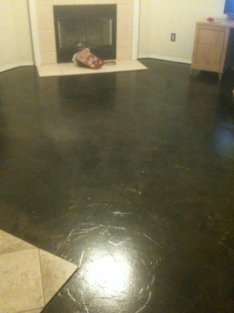 Good As Promised, The DIY Brown Craft Paper Floor Tutorial. Our Living Room,  Sans Furniture.