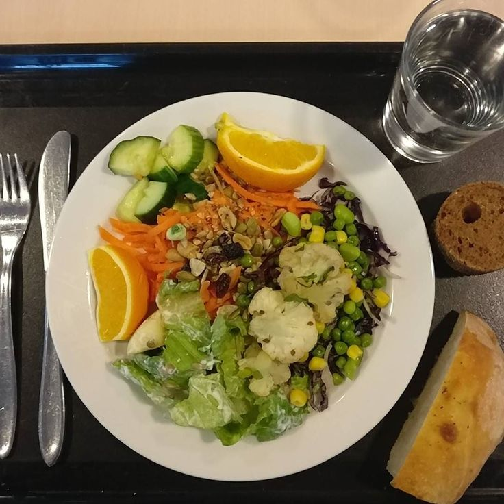 #lunch #mixedsalad #bread #water