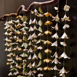 A lovely paper garland with tutorial makes a lovely backdrop.
