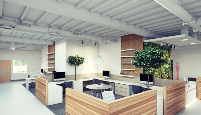 Open Plan Office Layout Advantages And Disadvantages Advantages Disadvantages Layout Mo In 2020 Corporate Office Design Green Office Design Office Design Trends