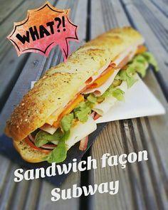 Sandwich façon pain Subway