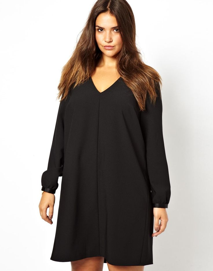 Carmakoma | Carmakoma Long Sleeve Smock Dress at ASOS