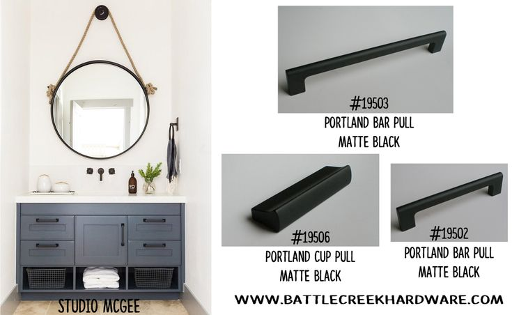 Confused about choosing between silver and gold hardware? Black is always in style! Check out our Matte Black choices in the Portland collection: www.battlecreekhardware.com