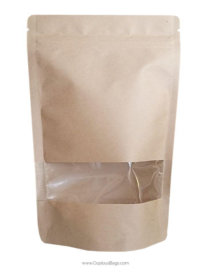 Kraft Paper Stand Up Bag 4x6 2 Oz 60 G Kraft Paper