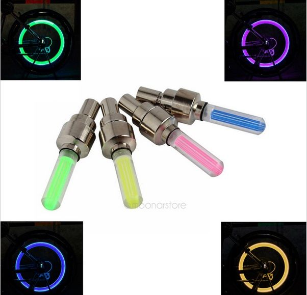 Aliexpress.com : Buy 4pcs/set mountain road bike accessories cycling colorful bicycle lights LEDS Tyre Tire Valve Caps Wheel spoke reflective strip from Reliable bike accessories suppliers on ELUANSHI Group co., LTD
