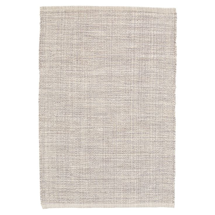 Test drive this rug in your space.Order a swatch by adding it to your cart.Mixed yarns of grey and ivory give this woven cotton rug its unique marled look. Use this area rug as a durable, soft foundation in both neutral and modern settings.